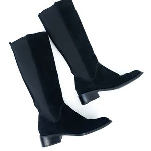 pazzo Black Knee High Boots leather suede Sz 7M